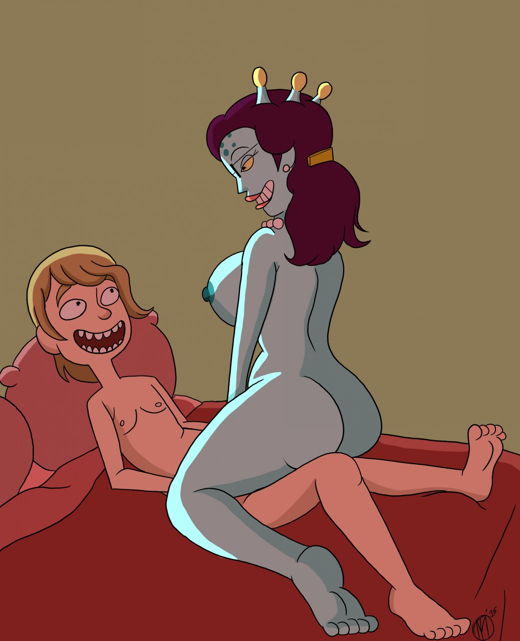 tricia porn morty rick and Record of grancrest war porn